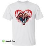 Bloody Heart Bride of Chucky, Chucky And Tiffany Halloween T-Shirt
