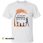 The Nightmare Before Christmas Characters It's The Most Wonderful Time Of The Year Halloween T-Shirt