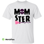 Funny Skull Wizard Witch Broomstick Momster Halloween T-Shirt Gift For Mom
