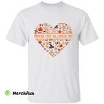 Funny Heart I Just Freaking Love Halloween Ok T-Shirt