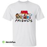 Friends Cartoon Peanuts Snoopy Horror Movies Character Halloween T-Shirt