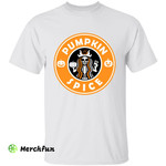 Skeleton Mermaid Pumpkin Spice Starbucks Coffee Halloween T-Shirt