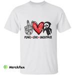 Peace Love Ghostface Chibi Horror Movie Character Halloween T-Shirt