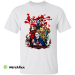Bloody Cocacola Drink Squad Of Horror Movies Character Halloween T-Shirt
