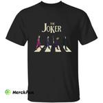 The Joker DC Comics The Beatles Crosswalk Horror Movies Character Halloween T-Shirt