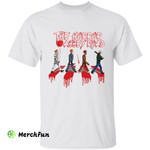Bloody The Beatles Crosswalk The Horror Abbey Road Scary Movies Character Halloween T-Shirt