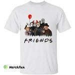 Friends Cartoon Horror Movies Character Halloween T-Shirt