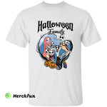 The Nightmare Before Christmas Jack Skellington Sally And 5 Babies Halloween Family T-Shirt