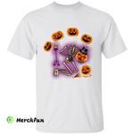Scary Pumpkin Skeleton Bones Halloween T-Shirt