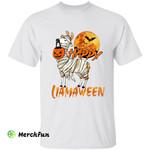 Funny Mummy Llama Alpaca Animal Happy Llamaween Halloween T-Shirt