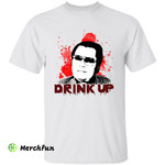 Bloody Jim Jones Serial Killer Murder Drink Up Halloween T-Shirt