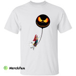 The Nightmare Before Christmas Jack Skellington And Sally Horror Movie Character Halloween T-Shirt