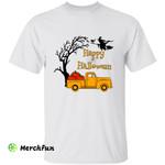 Happy Halloween Pumpkin Truck Witch T-Shirt