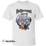 The Nightmare Before Christmas Jack Skellington Sally And 3 Babies Halloween Family T-Shirt