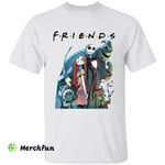 Friends The Nightmare Before Christmas Jack Skellington And Sally Horror Movie Character Halloween T-Shirt