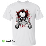 Bloody It Pennywise Folding Boat Halloween T-Shirt