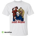 Freddy Krueger Michael Myers Jason Voorhees Squad Of Horror Movies Character Slashy Birthday Killer Murder Halloween T-Shirt