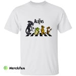 Xenomorph Yoda E.T. The Aliens The Beatles Crosswalk Halloween T-Shirt