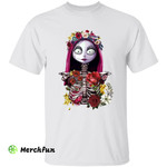 The Nightmare Before Christmas Sally Floral Skeleton Horror Movie Halloween T-Shirt