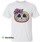 Sugar Skull Pumpkin Mexican Traditional Mexico Festival Culture Day Of The Dead Dia De Muertos Halloween T-Shirt