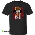 Bloody Jason Voorhees Freddy Krueger Leatherface Michael Myers Horror Movies Character Halloween T-Shirt