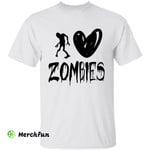 Walking Dead Body I Love Zombies Halloween T-Shirt