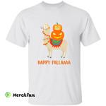 Funny Llama Alpaca Happy Fallama Halloween T-Shirt