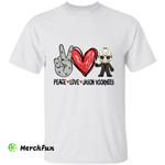 Peace Love Jason Voorhees Chibi Horror Character Halloween T-Shirt