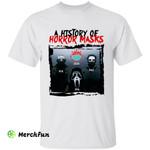 COVID-19 Virus A History Of Horror Masks Halloween Movies Character T-Shirt