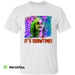 Leopard Beetlejuice Betelgeuse It's Showtime Horror Movie Character Halloween T-Shirt