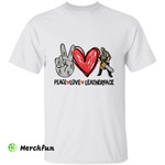 Cute Peace Love Leatherface The Texas Chainsaw Massacre Hand Sign Horror Movie Character Halloween T-Shirt