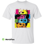 Colorful Bloody Jason Voorhees Freddy Krueger Leatherface Michael Myers Horror Movies Character Halloween T-Shirt