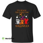 Mummy Pumpkin Witch Satan Devil Kitten Cat Halloween T-Shirt