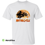 Funny Biker Motorbike Wizard Witch On Motorcycle Halloween T-Shirt