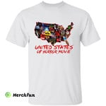 United States Of Horror Movie USA Map Halloween T-Shirt