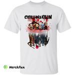 Chillin And Killin Chibi Anime Horror Movies Character Water Reflecting Halloween T-Shirt