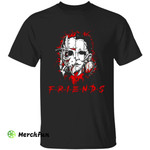 Friends Horror Movies Character Face Halloween T-Shirt
