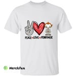 Peace Love Pennywise Chibi Horror Character Halloween T-Shirt