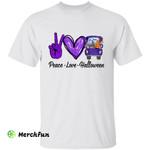 Peace Love Halloween Truck Hand Sign T-Shirt