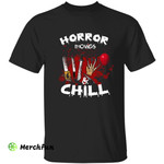 Horror Movies And Chill Murder Weapons Halloween T-Shirt