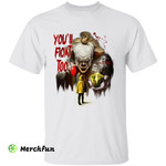 Bloody It Pennywise And Georgie Denbrough You'll Float Too Horror Movie Halloween T-Shirt 2