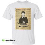The Addams Family Wednesday Addams Dictionary You Severely Underestimate My Apathy Horror Movie Character Halloween T-Shirt