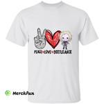 Peace Love Beetlejuice Chibi Horror Movie Character Halloween T-Shirt