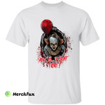 Bloody IT Pennywise In Hole Youll Float Too Horror Movie Character Halloween T-Shirt