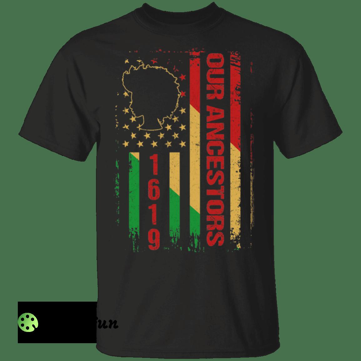 1619 Our Ancestors African American Black History Vintage shirt