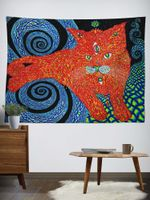 The Cat That Brings Love Wall Tapestry