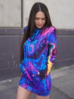 Acid Bath Hooded Dress