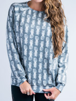 Black and White Pineapple Vintage Sweatshirt