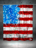 Bleed America Shower Curtain