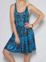 Blue Mandala Flowy Racerback Dress
